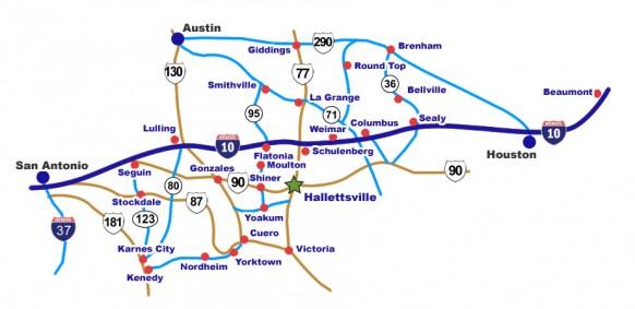 I-10 Map